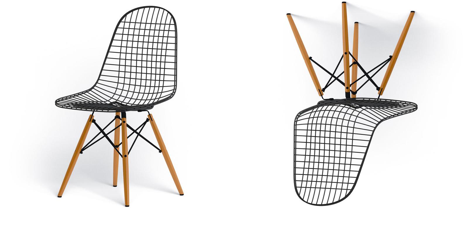 Miljøbilde av Wire Chair DKW-2 – med treben