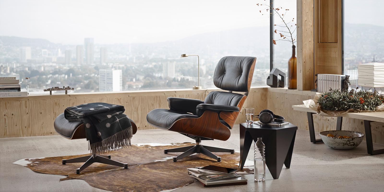 Miljøbilde av Lounge Chair & Ottoman – ekstra høy