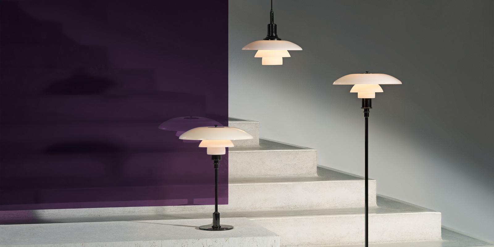 Miljøbilde av PH 3/2 og PH 2/1 bordlampe