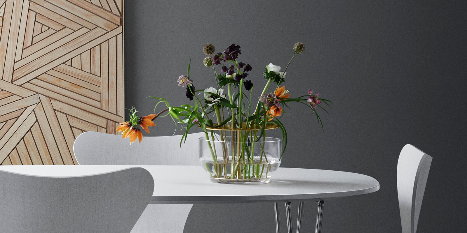 Miljøbilde av Ikebana blomstervaser