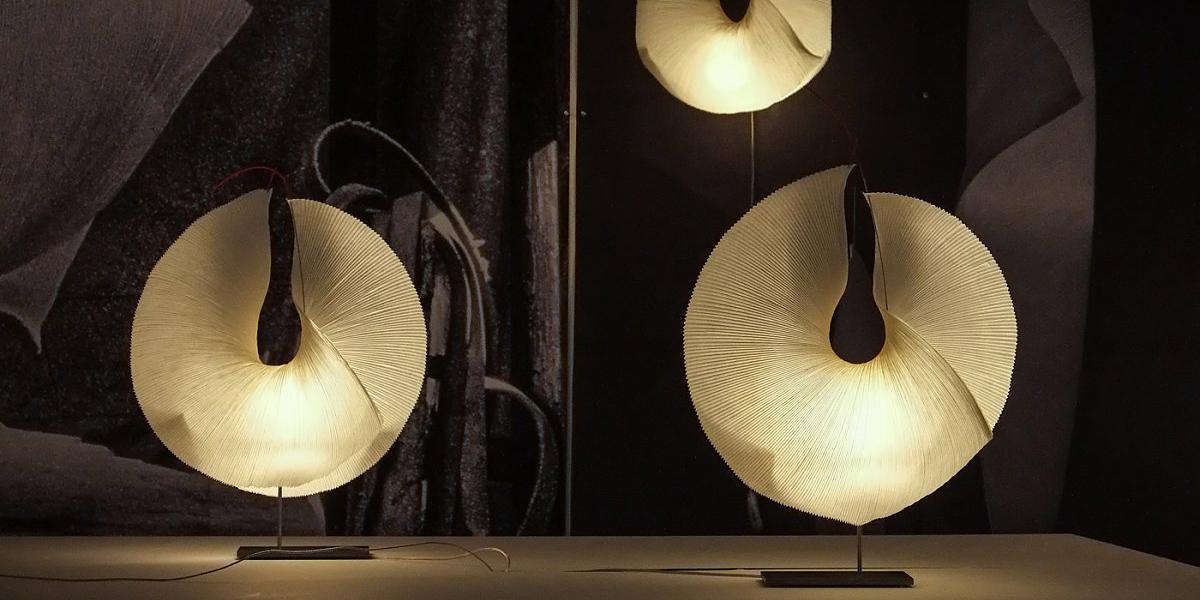 Miljøbilde av Yoruba rose bordlampe