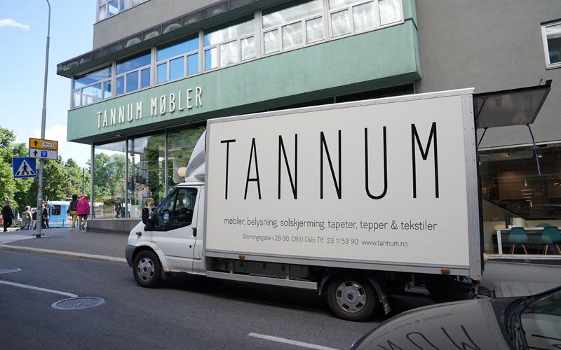 Transport tjeneste fra Tannum Møbler